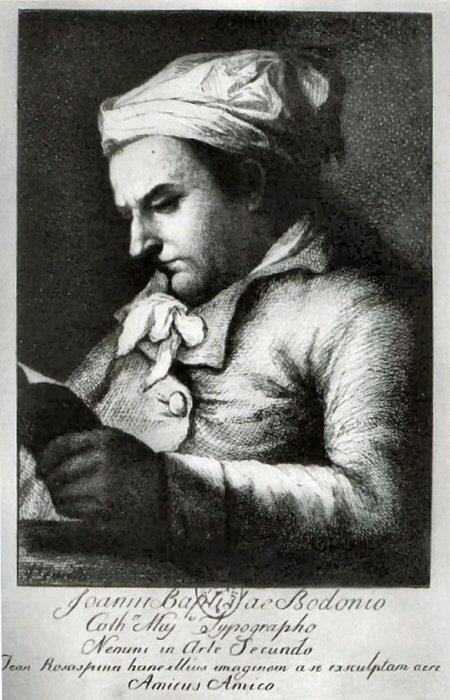 un ritratto di Giambattista Bodoni