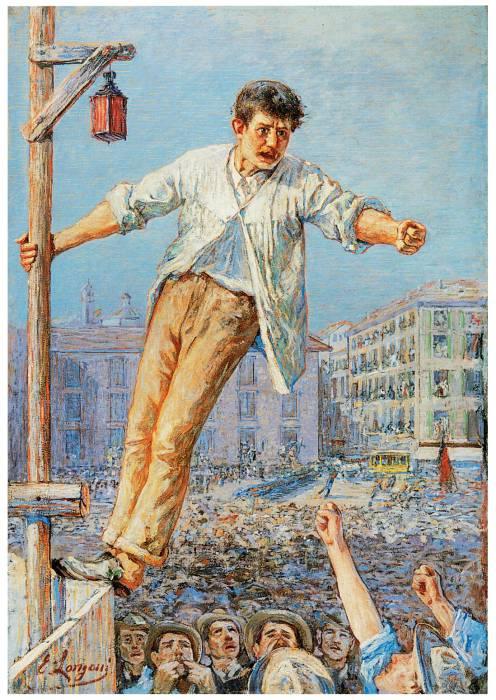 l'oratore dello sciopero - emilio longoni